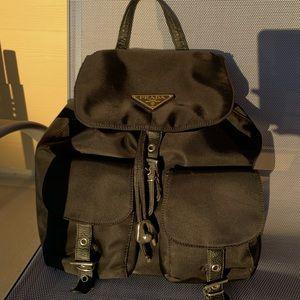 Black Prada Nylon backpack